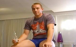 drunk homo stud shows off his hawt body