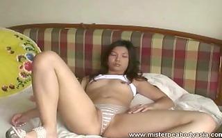 charming oriental masturbates