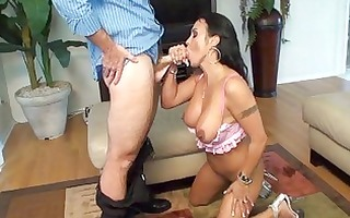 breasty tattooed dark brown mother i receives her