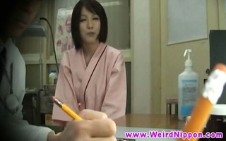 hot oriental playgirl breast checked by doc