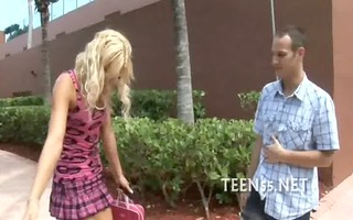 wild legal age teenager mounts a massive ramrod