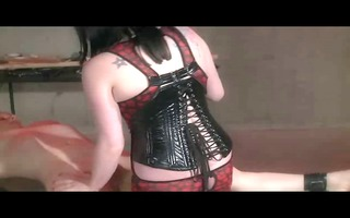lezdom electro stimulation and spanking