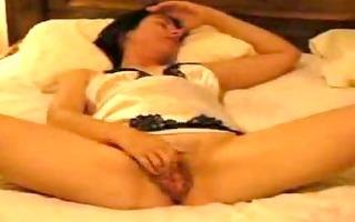 beautiful wife likes rubbing her clitoris