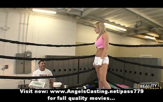 agreeable superb blonde sweetheart receives her