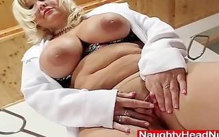 bawdy golden-haired big milk sacks milf in nurse