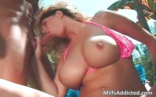 hirsute large boobed bitch outdoor fucking part5