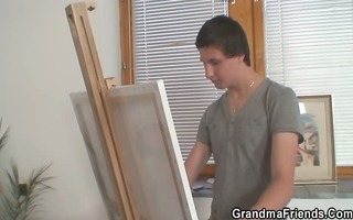 youthful painters group-sex granny