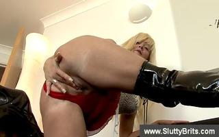 aged british shows love melons and slit