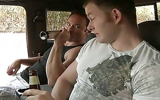 hunks gets lewd after a beer