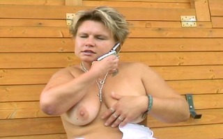 golden-haired can licking a dick