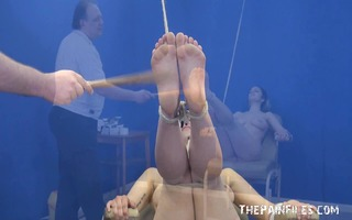 feet whipping bondage and foot fetish of amateur