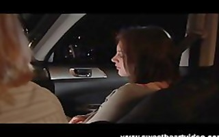 lesbian hitchhiker acquires picked up and drilled