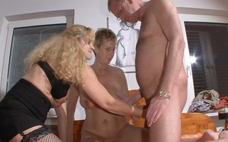 simone lets jacky and peter check her out