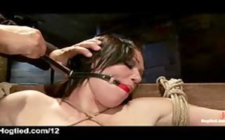 fastened up massive tits chick whipped and fur