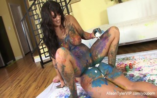 painted lesbian babes with alison and kelly divine