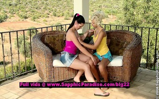 lila and mischelle sweet lesbo girls teasing