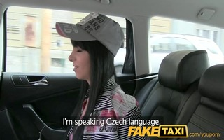 faketaxi tiny juvenile model trys to fit a giant