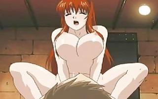 a redhead nanny serves a milky femdom discipline