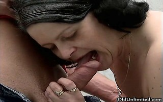 naughty older whore acquires lascivious engulfing