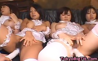 breasty japanese sweethearts acquire muff