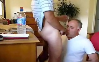 younger boys face copulates mature chap - lots of