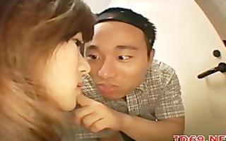 dude satisfies sexy gals
