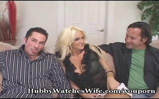 cougar wife copulates youthful dude as hubby