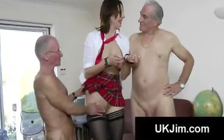 excited dark brown schoolgirl fucked into ass and