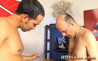 bi-sexual group-fucked sleazy golden-haired