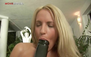 blonde lustful sweetheart working on a giant part7