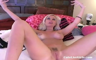 nice-looking american golden-haired fucking