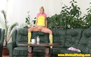 watersports time for shy blond legal age teenager