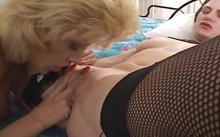 lesbian gets excited with her lover and licks and