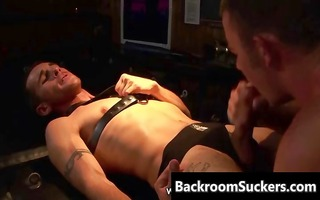 butch bum bashing in the back room part1