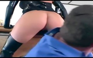 blond male cop fucking in gloves and nylons