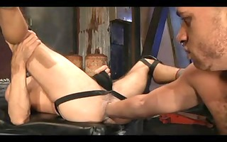 hooded homo obedient receives drilled admirable