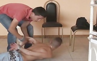 in slavery for three-some wild homosexual fuck