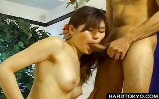 oriental whore engulfing and fucking wang
