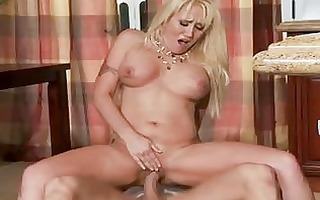 tattooed golden-haired mother i with large melons
