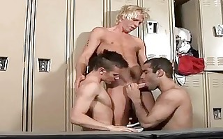 sporty homo chaps having wild sex in the locker