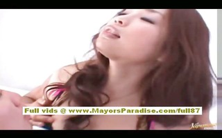 rio asian gal acquires her curly snatch licked