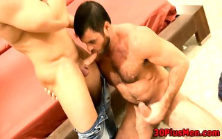 ripped bear licks and fingers ass