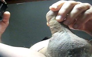 76 yrold granddad #108 aged pounder close closeup