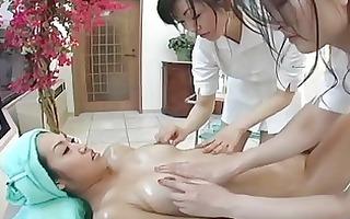 japanese lesbo some massage