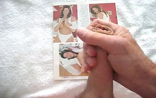 jerk off over one more porno with spunk flow