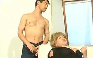 old russian mum gets her self an oriental guy for