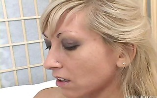 lesbo pure golden-haired snatch
