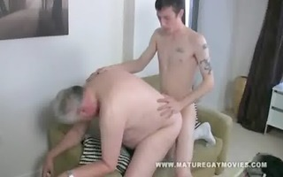 obese dad acquires screwed by his young paramour
