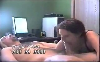 short-haired wife oral-job