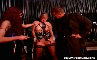 brutal bdsm sex with floozy whose love melons